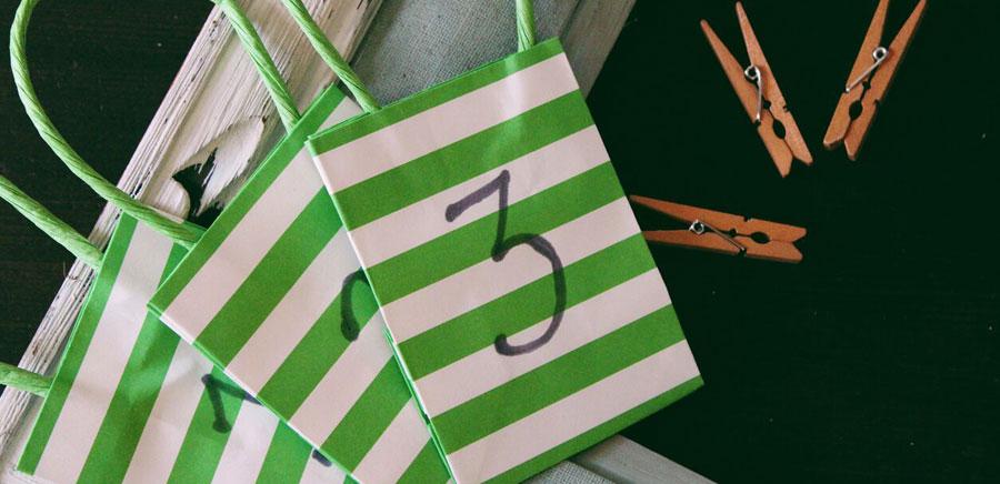 advent calendar bags clothespins