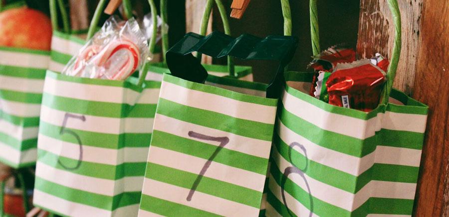 advent calendar bags filled