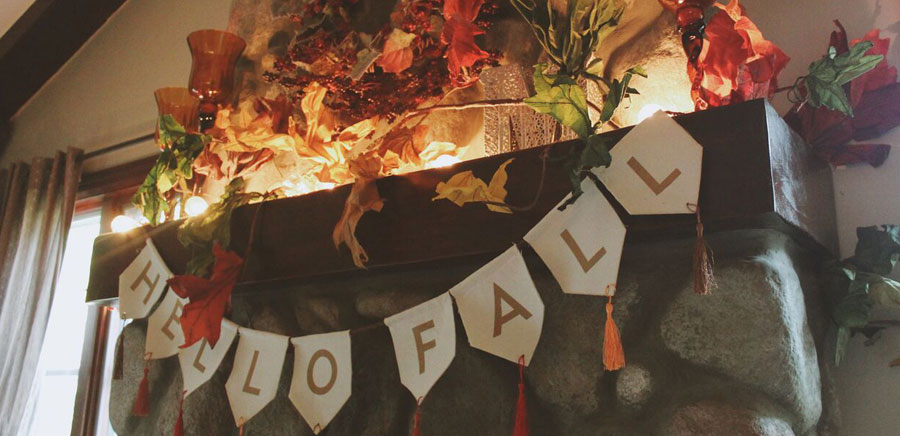 decorate for fall hello banner