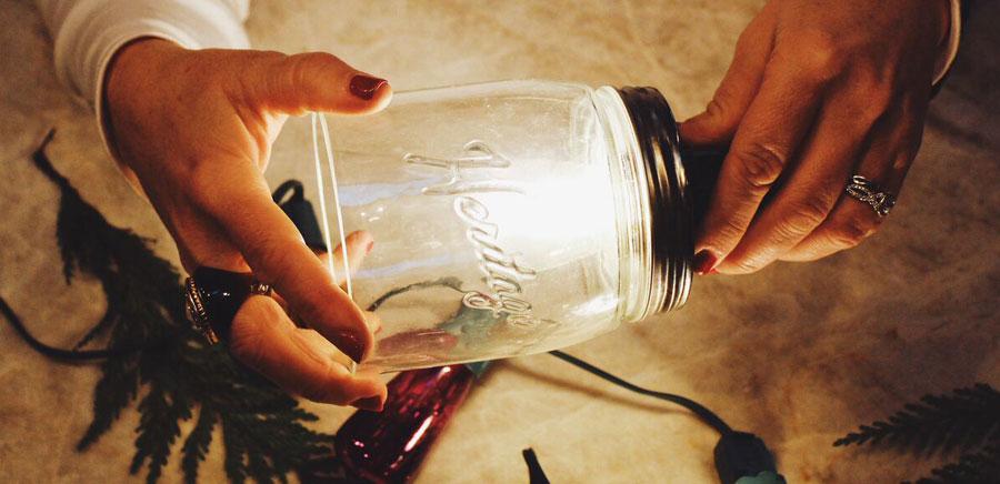 easy diy gift insert light