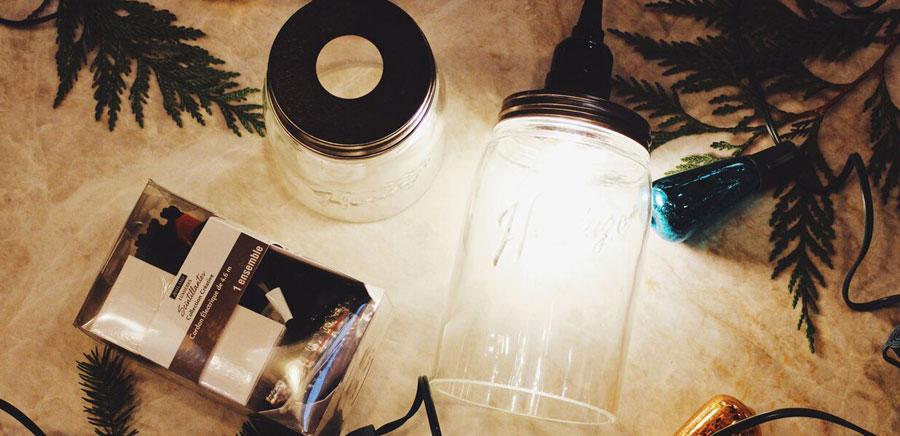 easy diy gift light jars