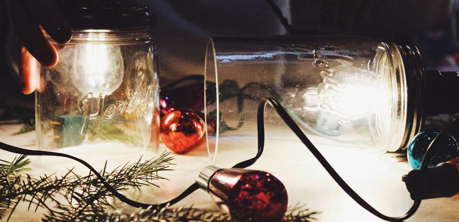 easy diy gift lights in jars