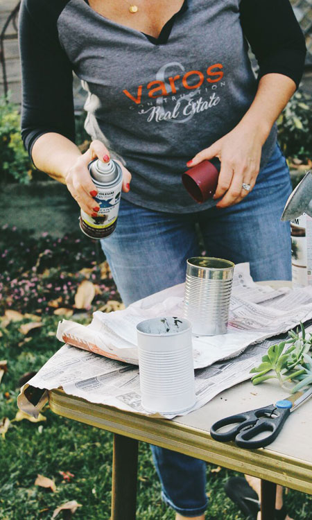 easy diy gift terry spray paint