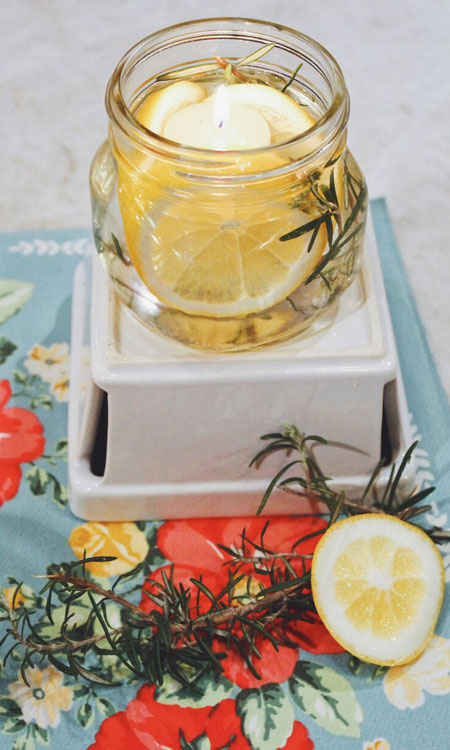 lemon diy candle