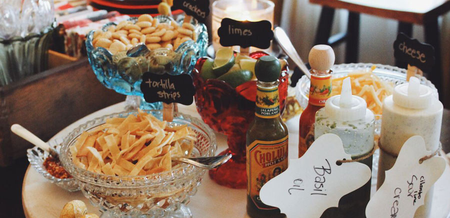 party planning toppings